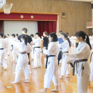 沖縄空手体験授業