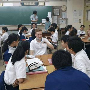 中学1年生のクラスでのグループ交流