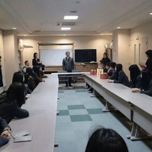 名城副理事長からの歓迎のあいさつ