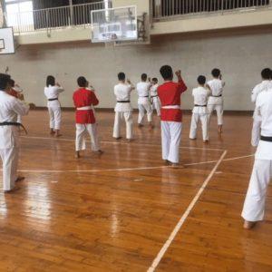 沖縄空手の体験授業